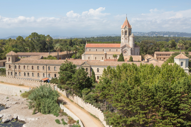 Fortified monastery on St Honarat, Iles de Lerins at Cannes, France