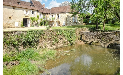 Holiday Watermill near Hautefort, Dordogne, Aquitaine, South West France